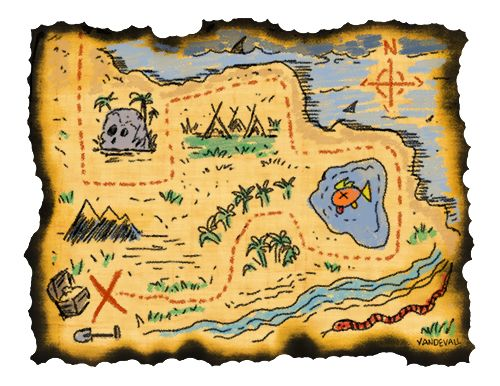A pirate map